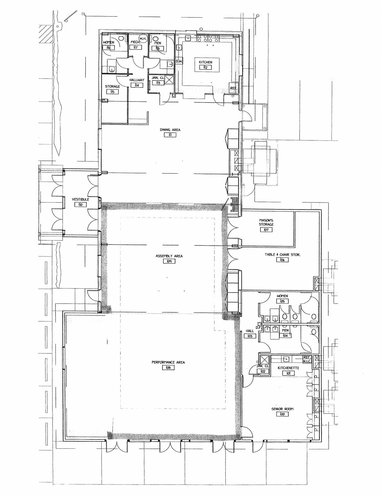 Dolores Community Center Floor Plan